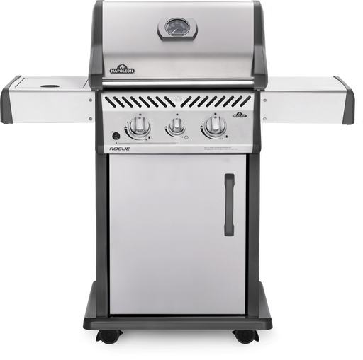 Rogue® 365 Propane Gas Grill with Range Side Burner, Stainless Steel