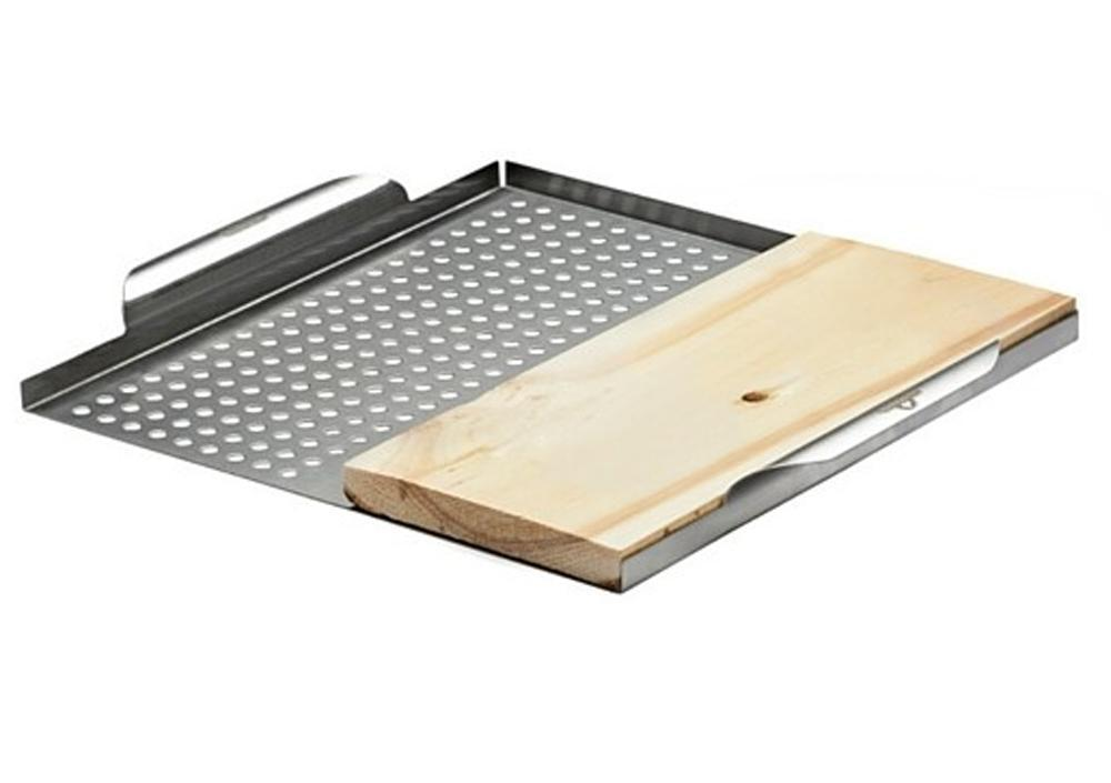 Napoleon 70026 Stainless Steel Multi-Functional Topper with Cedar Plank