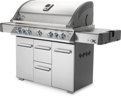 Napoleon LEX 730 Gas Grill with Side Burner, Infrared Bottom & Rear Burners LEX730RSBI
