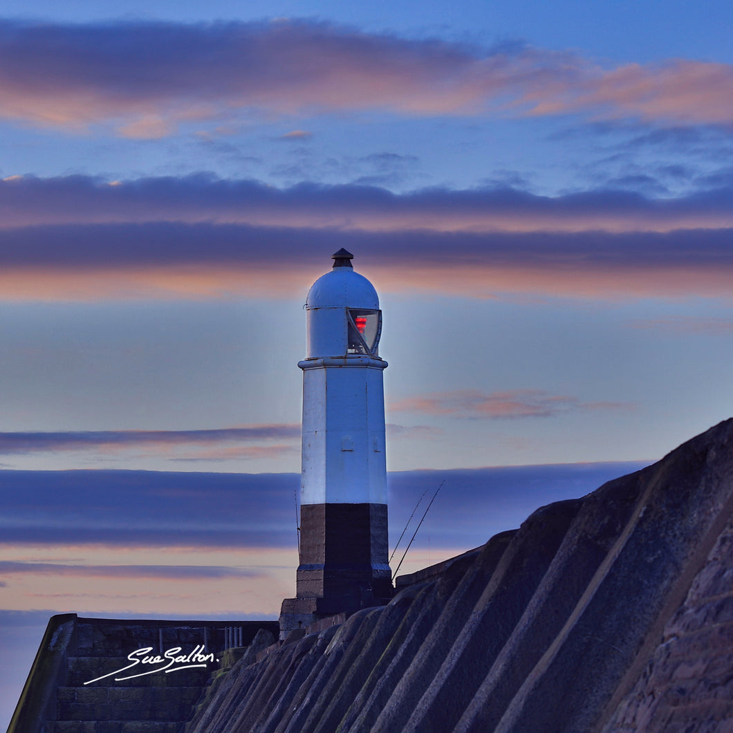 PORTHCAWL LIGHTHOUSE SUNRISE - Sue Salton Photo Art