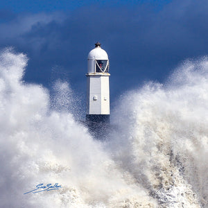PORTHCAWL LIGHT HOUSE WINTER STORM - Sue Salton Photo Art