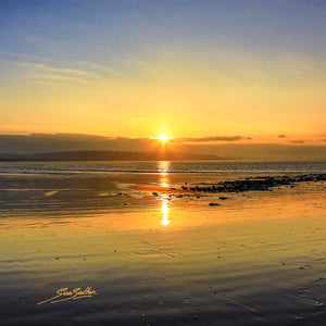 PORTHCAWL WINTER SUNRISE ON NEWTON BEACH - Sue Salton Photo Art
