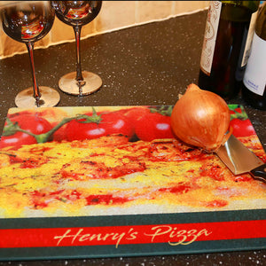"Glass Photo Chopping Board | Personalised | 28.5cm x 39cm | 15.25"" x 11.25"" Work Top Saver"