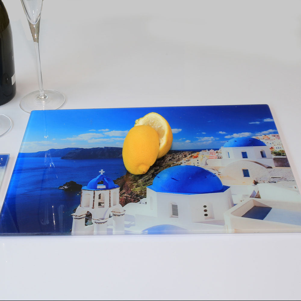 Glass Photo Chopping Board | Personalised | 28.5cm x 39cm | 15.25