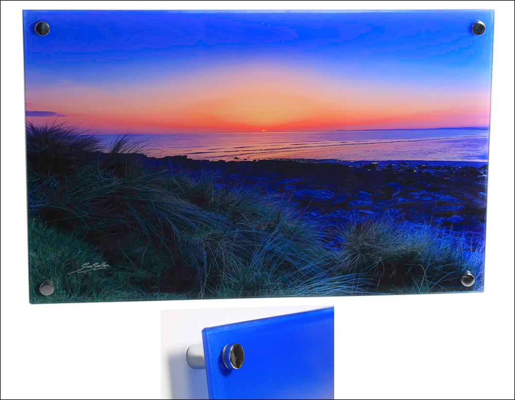 "GLASS PHOTO PRINT 40cm x 26cm (16""x11"") Landscape - Personalised Photo On Glass Wall Panel - Sue Salton Photo Art"