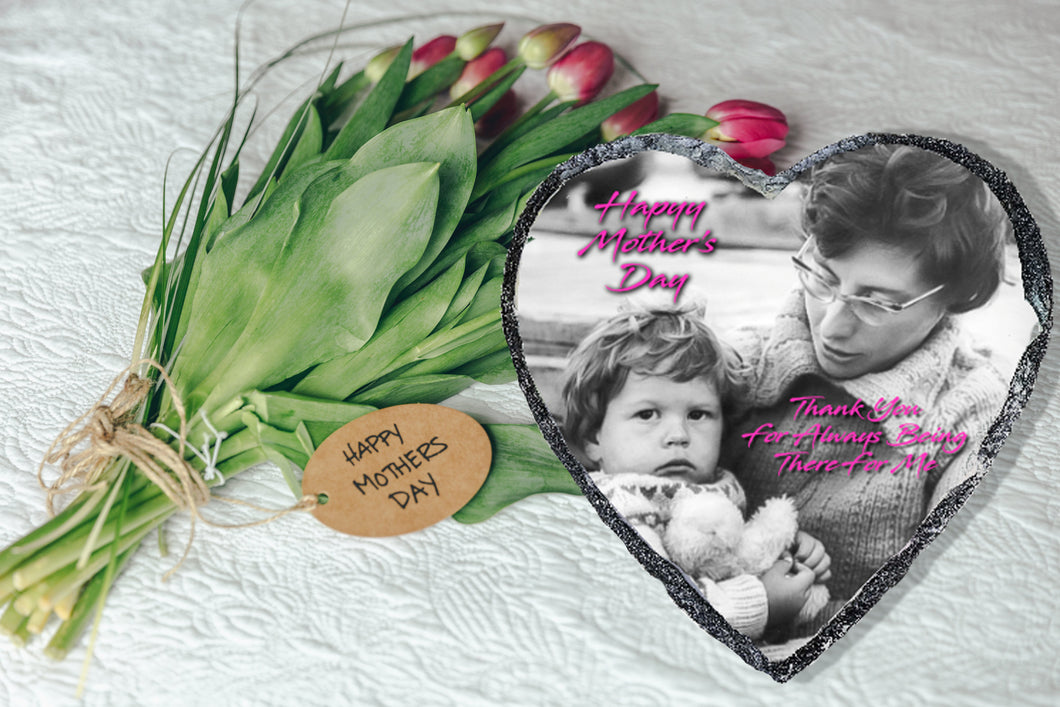 PERSONALISED PHOTO ON SLATE HEARTS - Sue Salton Photo Art