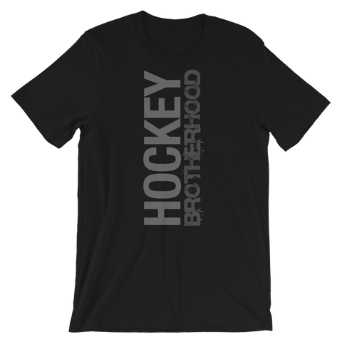 HB SIDE-KICK T-SHIRT - BLACK / GREY LOGO - HockeyBROTHERHOOD