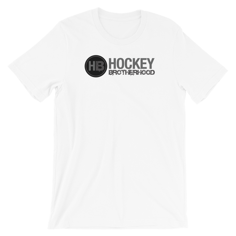 HB Classic T-Shirt - White / Grey Logo - HockeyBROTHERHOOD