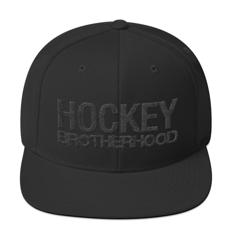 HB Classic Snapback Hat - Blackout - HockeyBROTHERHOOD
