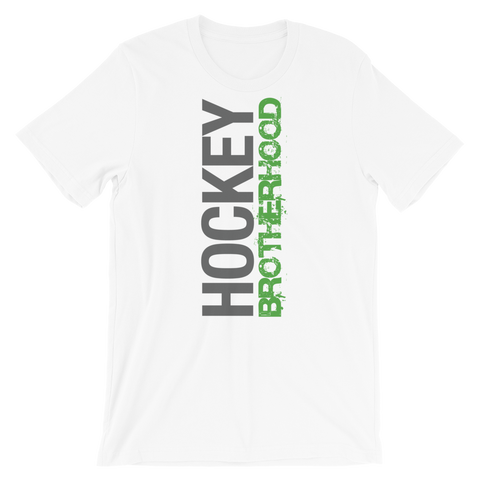 HB SIDE-KICK T-SHIRT - WHITE / GREEN LOGO - HockeyBROTHERHOOD