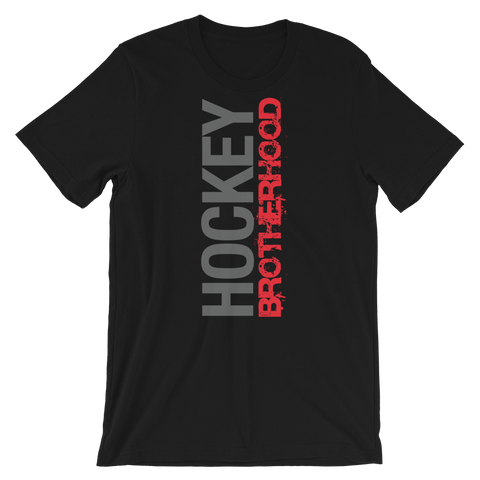 HB SIDE-KICK T-SHIRT - BLACK / RED LOGO - HockeyBROTHERHOOD
