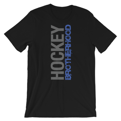 HB SIDE-KICK T-SHIRT - BLACK / BLUE LOGO - HockeyBROTHERHOOD