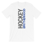 HB SIDE-KICK T-SHIRT - WHITE / BLUE LOGO - HockeyBROTHERHOOD