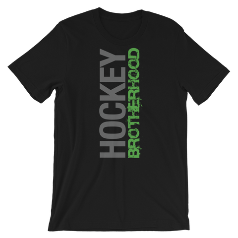 HB SIDE-KICK T-SHIRT - BLACK / GREEN LOGO - HockeyBROTHERHOOD