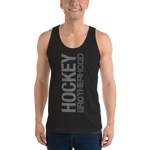 HB CLASSIC TANK TOP (UNISEX) - BLACK / GREY - HockeyBROTHERHOOD