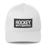 HB Block FlexFit Hat - White / Black - HockeyBROTHERHOOD
