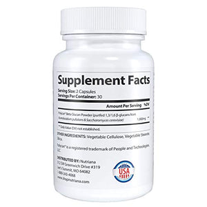 Beta 1,3D Glucan 1,000mg - Immune Support - Beta 1,3D- 1,6 D-Glucan Supplements - More Potent Than 500mg