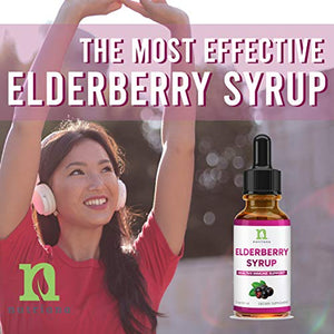 Elderberry Extract Syrup for Adults - Elderberry Extract Liquid Drops for Immune Support-2oz Elderberry Tincture 60ml