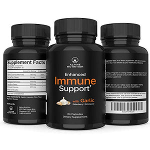 Immune Support Supplement with Zinc, Elderberry, Garlic, Echinacea & Vitamin C