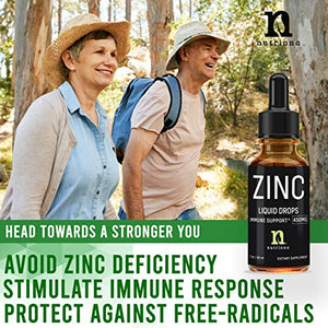 Ionic Liquid Zinc Drops 60ml -Zinc Acetate Supplements for Women, Men, and Kids