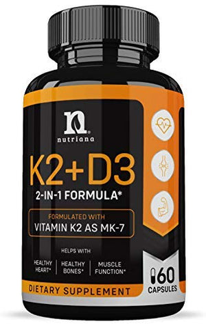 Vitamin K2 with D3 5000 IU Supplement