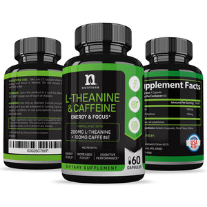 L-Theanine & Caffeine Supplement 200mg