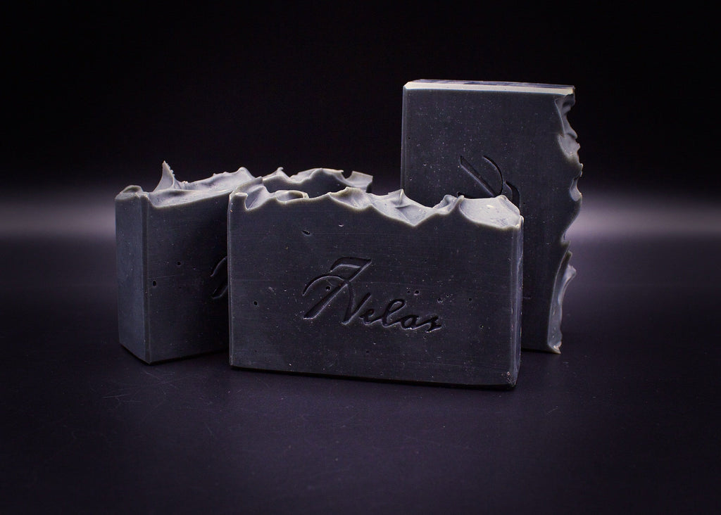 Activated Charcoal 100% Natural Artisan Soap with Eucalyptus and Tea Tree Essential Oil