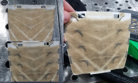 PAPR Pre-Filters after a single shift of filtering welding fumes