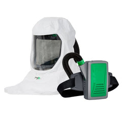 Shoulder Hood with Neck Seal Respirator with PAPR