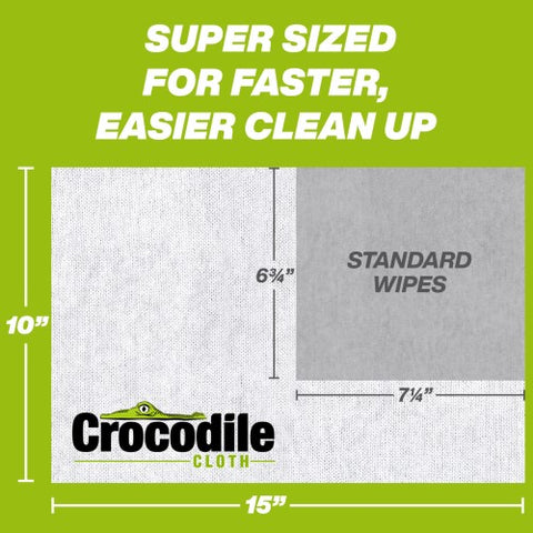 Super Sized Wipes for Faster Easier Cleanup