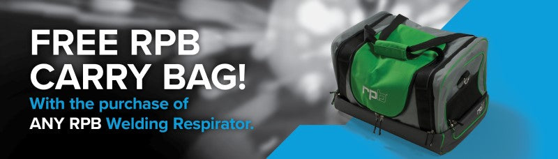 Free RPB Carry Bag with Purchase of Welding Respirator