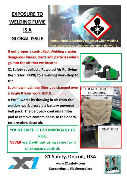 Exposure to Welding Fumes is a Global Issue from LOcHER Project and X1 Safety