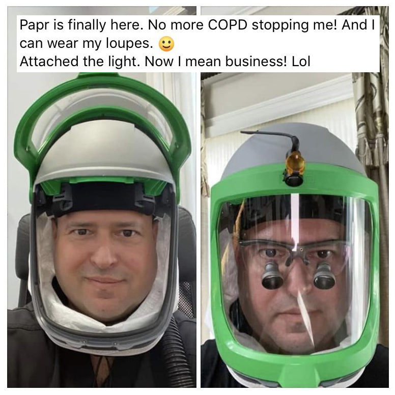 PAPR Respiratory Protection for Asthma and COPD sufferers