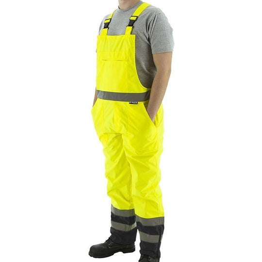 Bib Overall - Waterproof, High Visibility, Reflective Striping (PK 5 Pants) - Majestic - X1 Safety