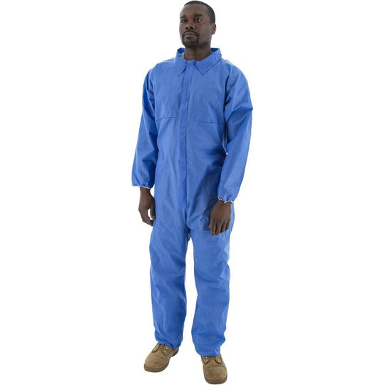 Flame Resistant SMS Anti-Static Coveralls in 3 Styles (PK 25) - Majestic - X1 Safety