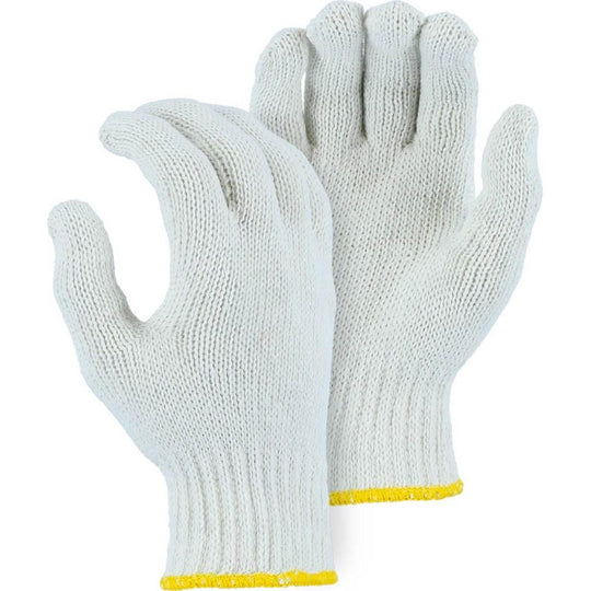 Heavyweight Cotton and Polyester Blend String Knit Glove - White (300 Pairs) - X1 Safety