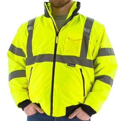 High Visibility 8-in-1 Waterproof All-Season Bomber Jacket and Liner System - Majestic - X1 Safety