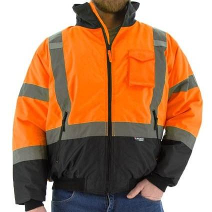 High Visibility Waterproof Jacket with Quilted Liner and Reflective Striping - Majestic