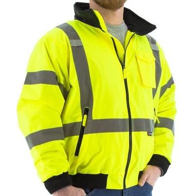 High Visibility Waterproof Jacket with Removable Fleece Liner and X-Pattern Reflective Striping - Majestic - X1 Safety