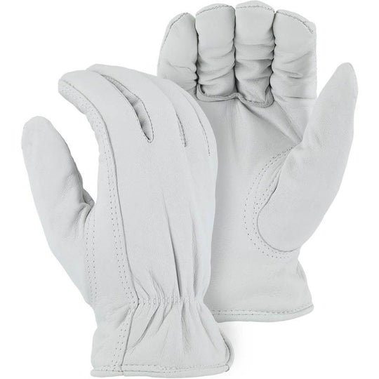 Leather Drivers Glove - Goatskin, Winter Lined, Keystone Thumb, Shirred Back, Majestic (PK 12 Pairs) - X1 Safety