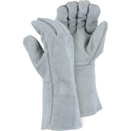 Leather Welders Glove - Shoulder Split Cowhide, Wing Thumb (12 Pairs) - X1 Safety