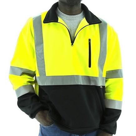 Pullover Sweatshirt - Teflon Coated, High Visibility, Reflective Striping - Majestic - X1 Safety