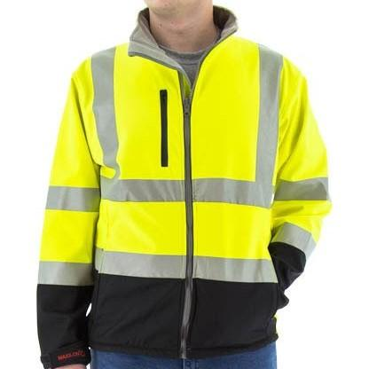 Softshell Jacket or Liner - Water Resistant, High Visibility, Reflective Striping - Majestic - X1 Safety