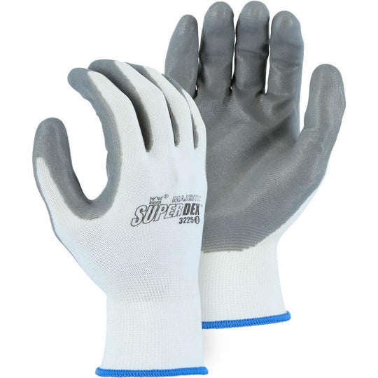 Washable Disposable Gloves - Foam Nitrile Palm on Nylon Glove (PK 24 Pairs) - Majestic Glove - X1 Safety