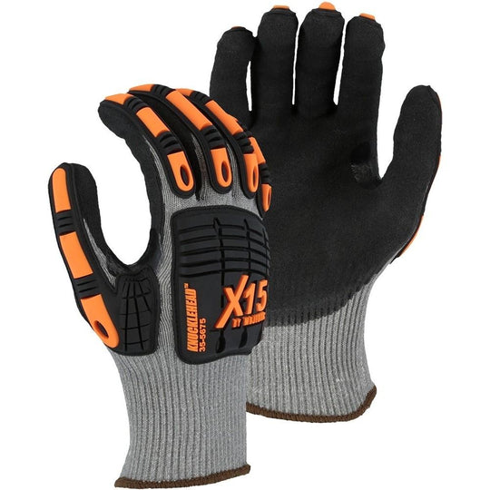 X15 Sandy Nitrile Dip KorPlex High Cut Resistant Glove with Impact Protection (PK 12 Pairs) - Majestic