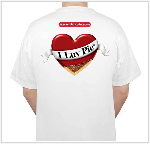 I ♥ Pie ® Heart T-Shirt (Back)
