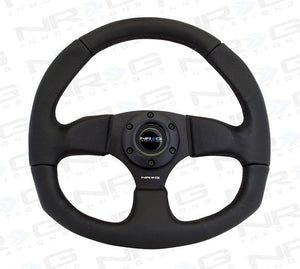"NRG ""Race Style"" Black Leather Steering Wheel"