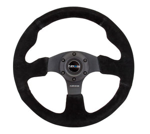 "NRG ""Race Style"" Suede Steering Wheel with Black Stitch 320mm"