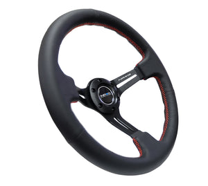 "NRG ""Nardi Style"" Steering Wheel w/Red Stitch in Suede or Leather"