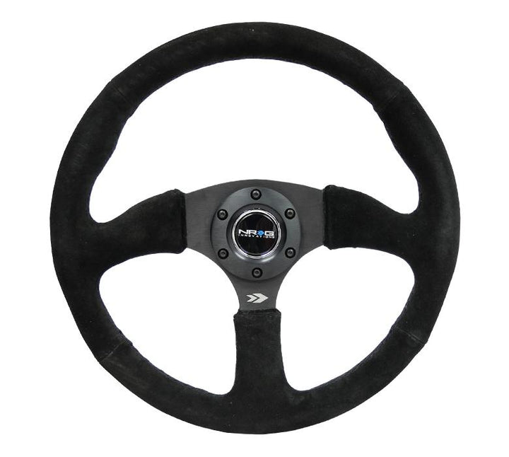 "NRG ""Race Style"" Suede Steering Wheel Matte Black 350mm"